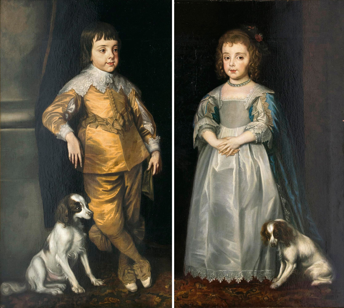 Companion Pieces: Charles II and his Sister Mary as Children
