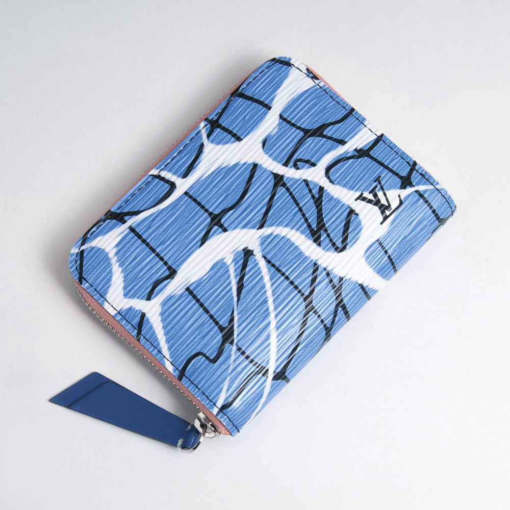 A Zippy Coin Wallet 'Aqua Pattern'