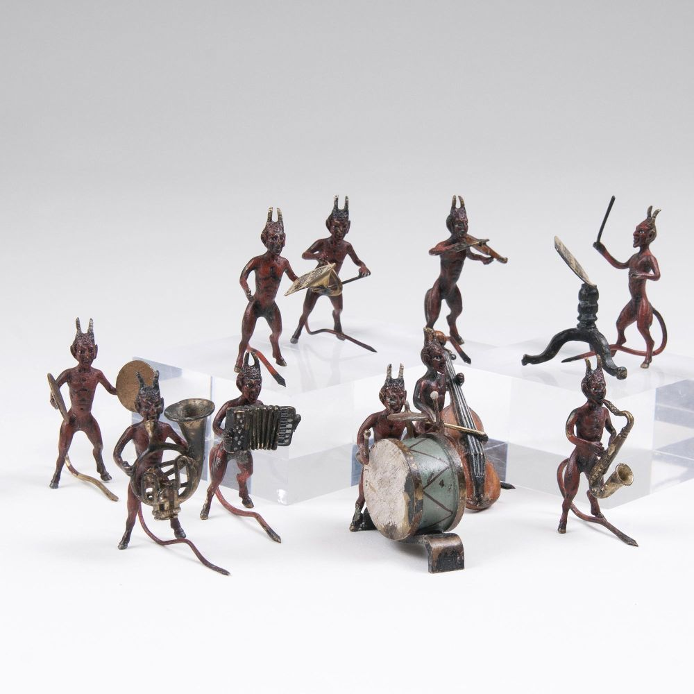 A Set of 10 Vienna Bronzes 'Devil Orchestra'