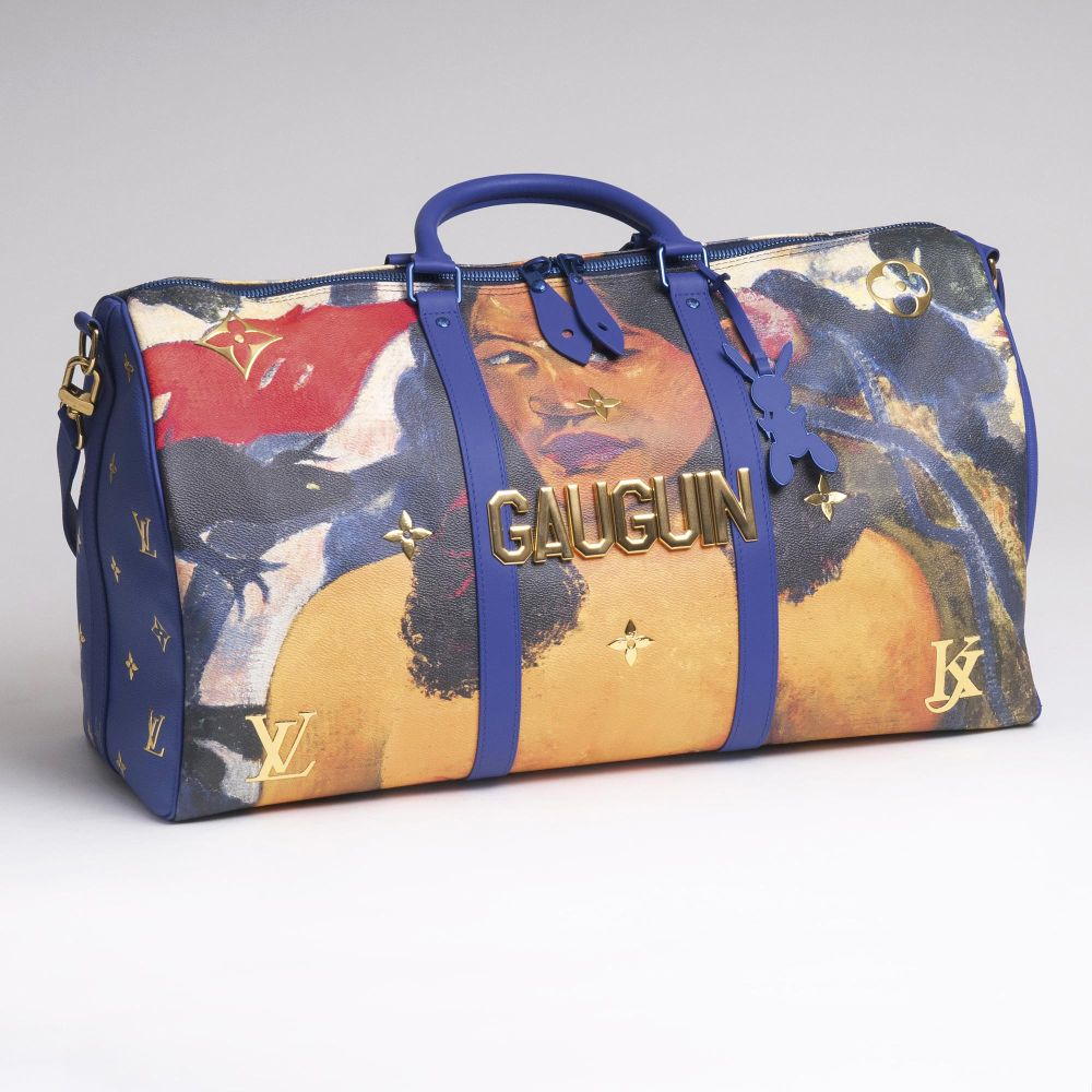 An  Iconic Masters LV x Koons Keepall 50 'Gauguin'