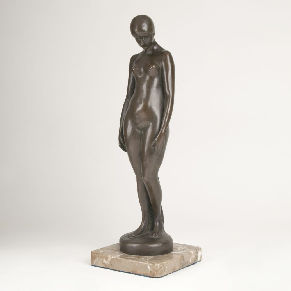 A Figure 'Standing Female Nude with Lowered Head'