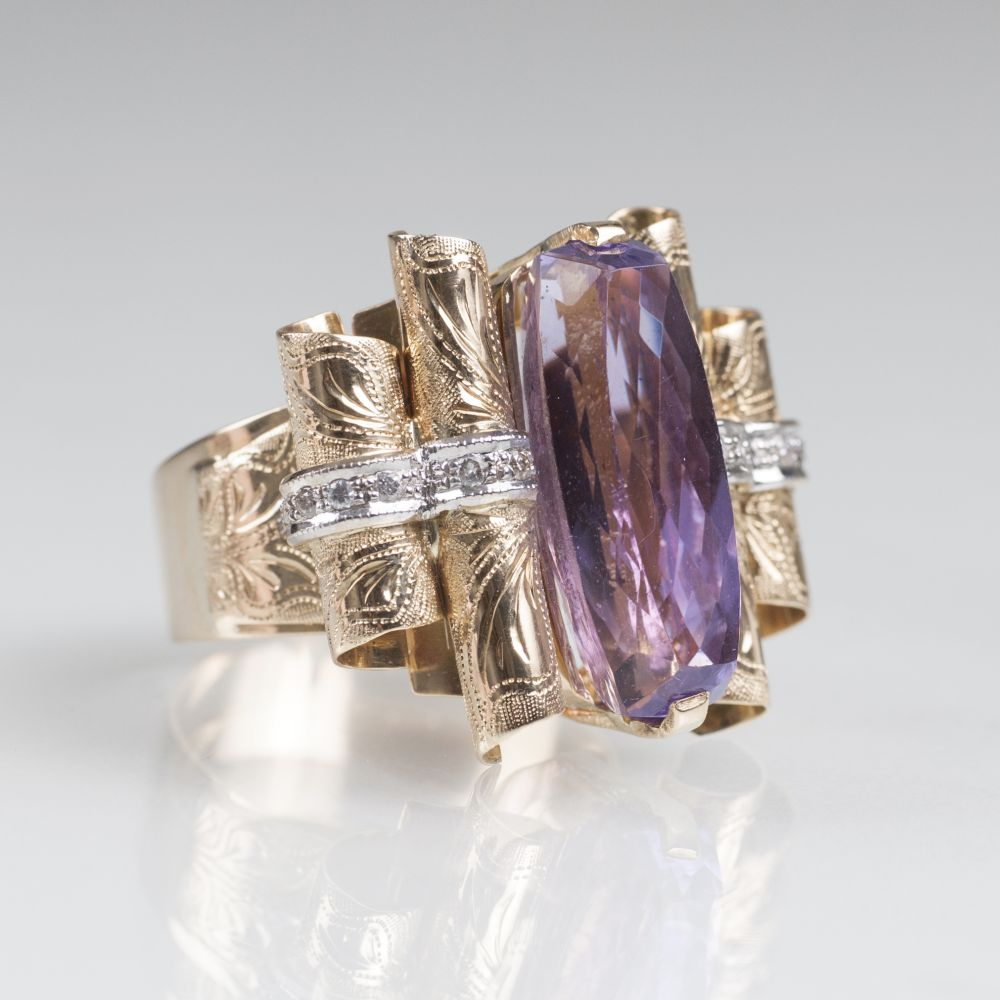 Amethyst-Brillant-Ring