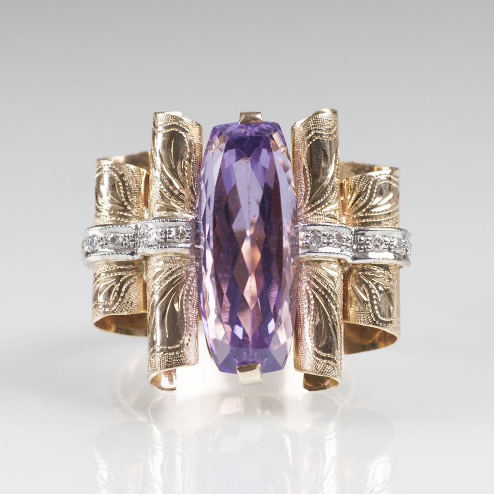 Amethyst-Brillant-Ring  - Bild 2