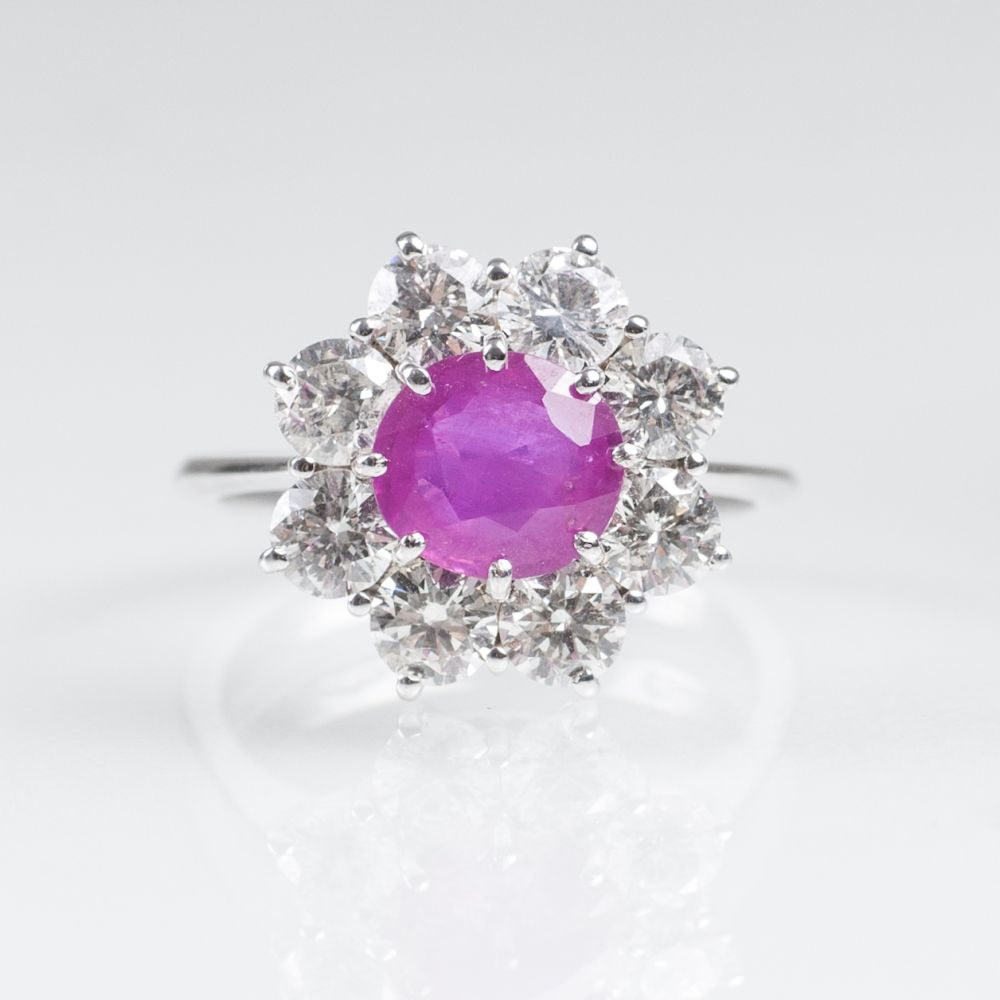 A classical Ruby Diamond Ring