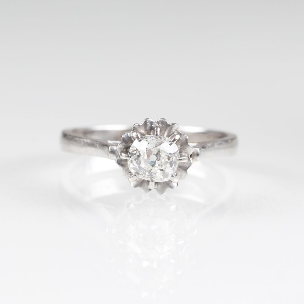 A Solitaire Ring with Old Cut Diamond