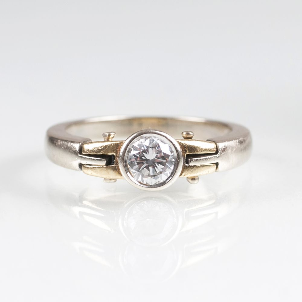 A Solitaire Diamond Ring by Jeweller Wempe