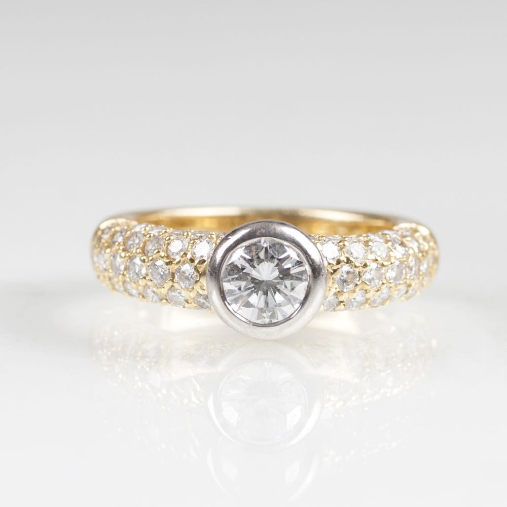 A Solitaire Diamond Ring by Jeweller Wempe Hamburg