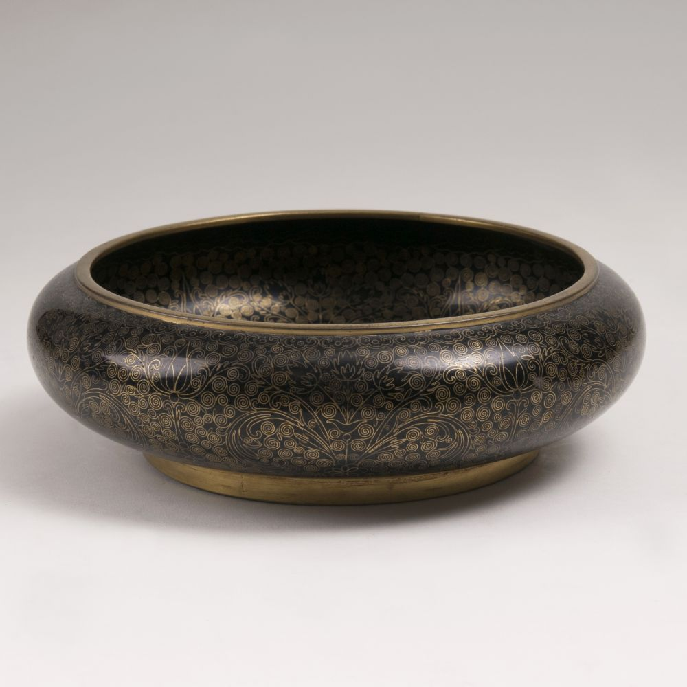 A Cloisonné Bowl with Spiralling Tendrils