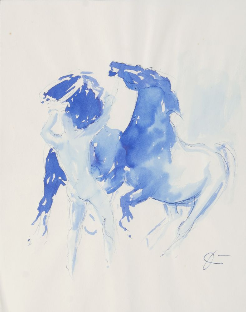 Two artworks: Horses