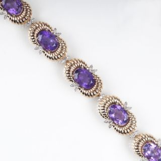 An Amethyst Diamond Bracelet