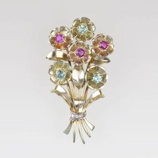 A Vintage Pendant with Tourmalines and Rubies