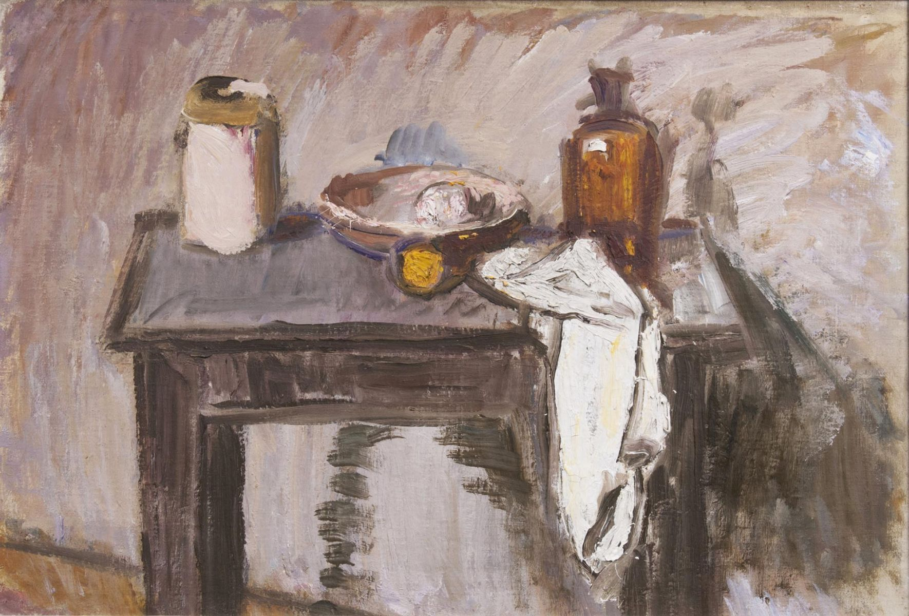Table Still Life with Pottery