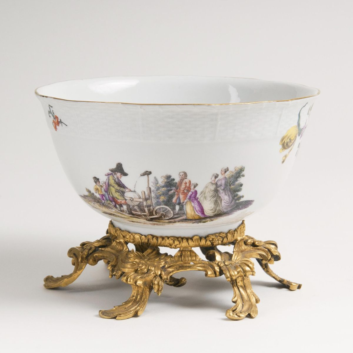 A Rare Bowl with Ormolu Mount