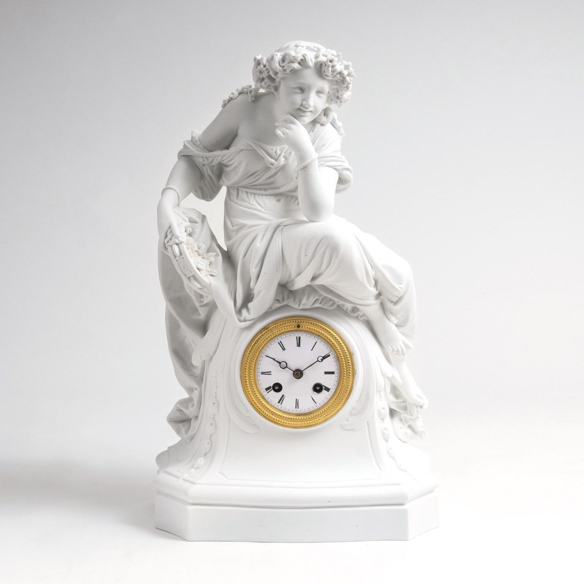 A Bisquit Pendulum 'Allegory of Summer'