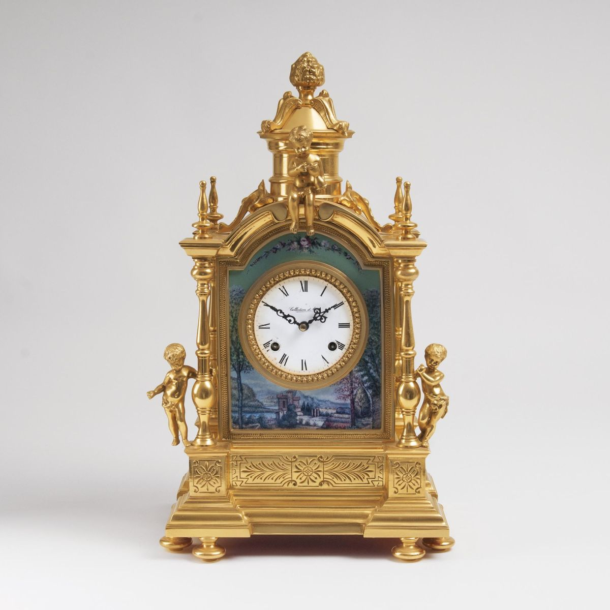 A Mantle Clock with Putti