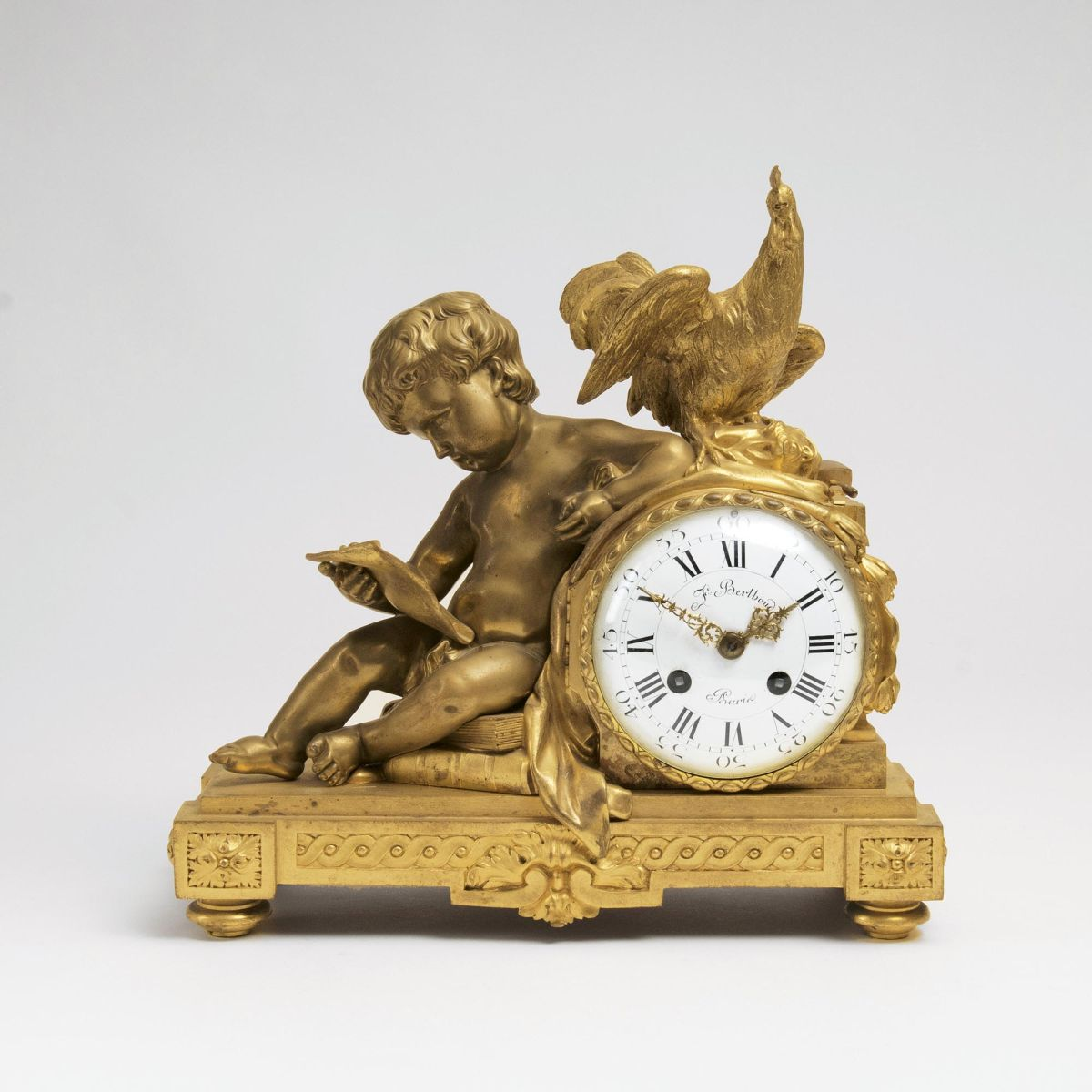 A Napoleon III Mantle Clock with Figural Allegory of the Arts