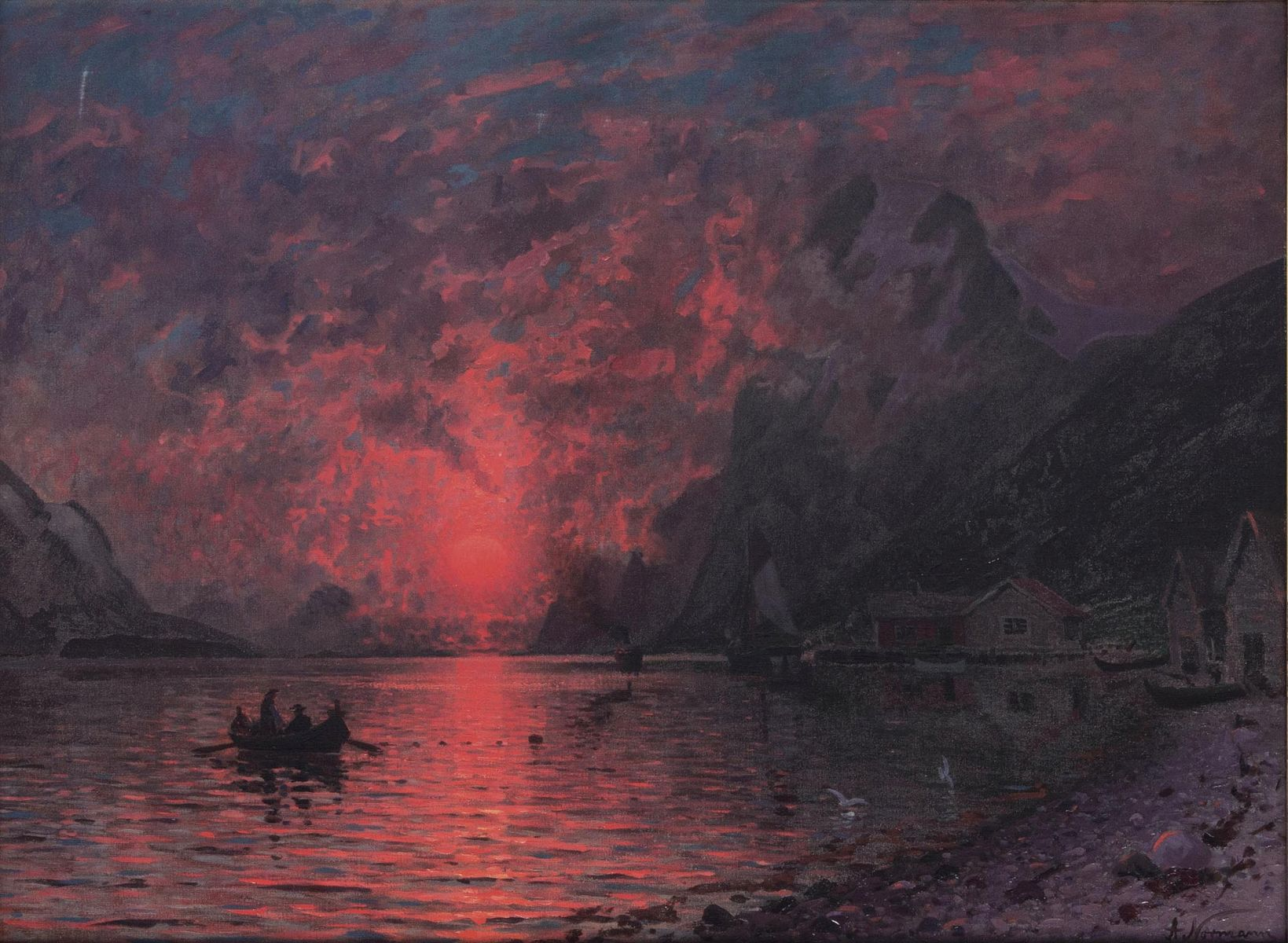 Sunset in the Fjord