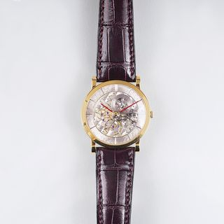 Armbanduhr 'Skeleton Flach Medium'
