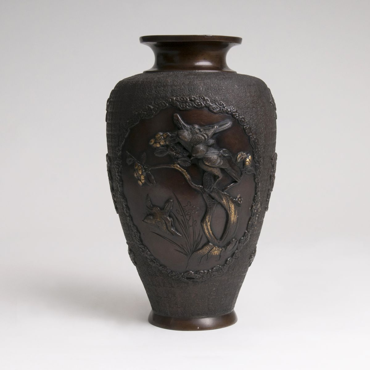 A Vase with rich relief decor