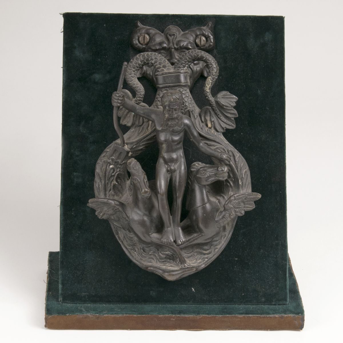 A Doorknocker with Neptune and Two Hippocamps