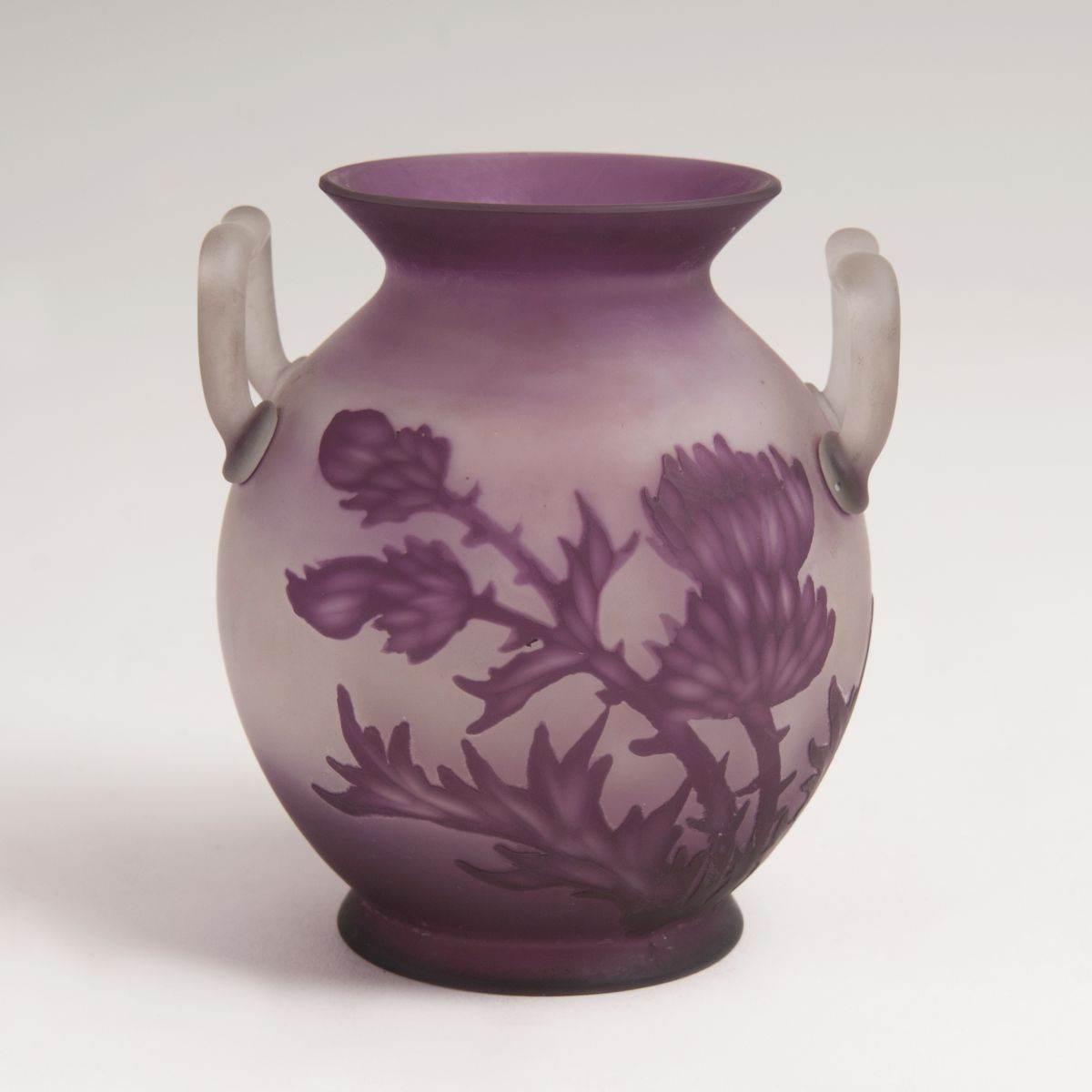 A Small Double Art-nouveau Vase with Thistles