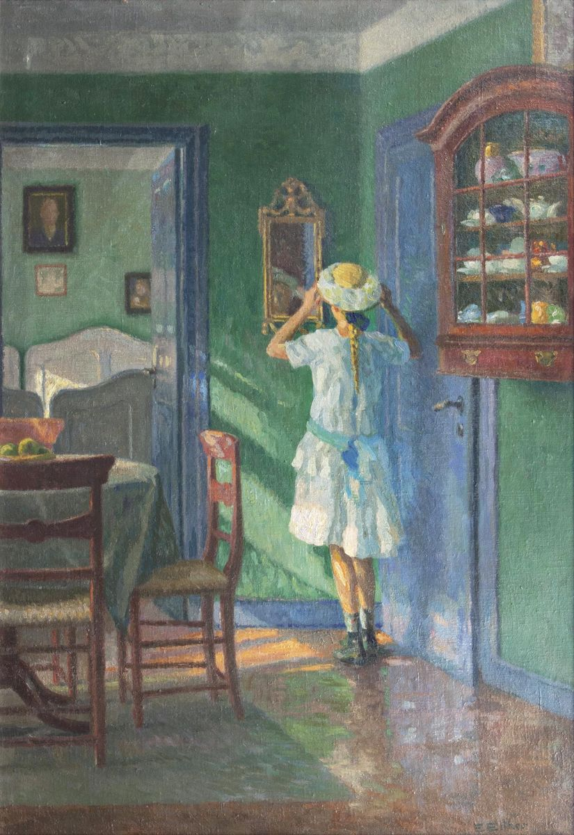 The Artist's Daughter in front of a Mirror