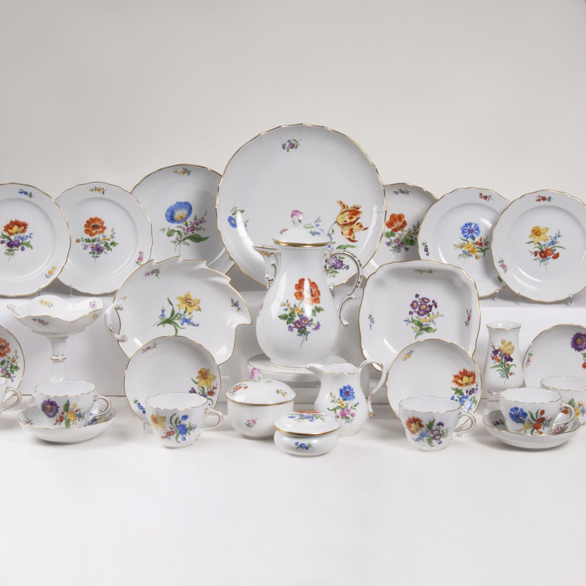 A Coffee Service 'Deutsche Blume' for 6 Persons
