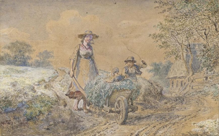 Woman with Pushcart