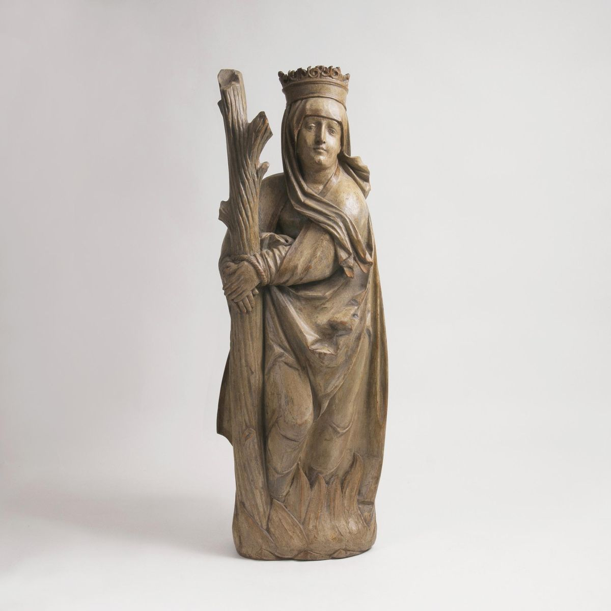 A late Gothic Sculpture of Saint Afra