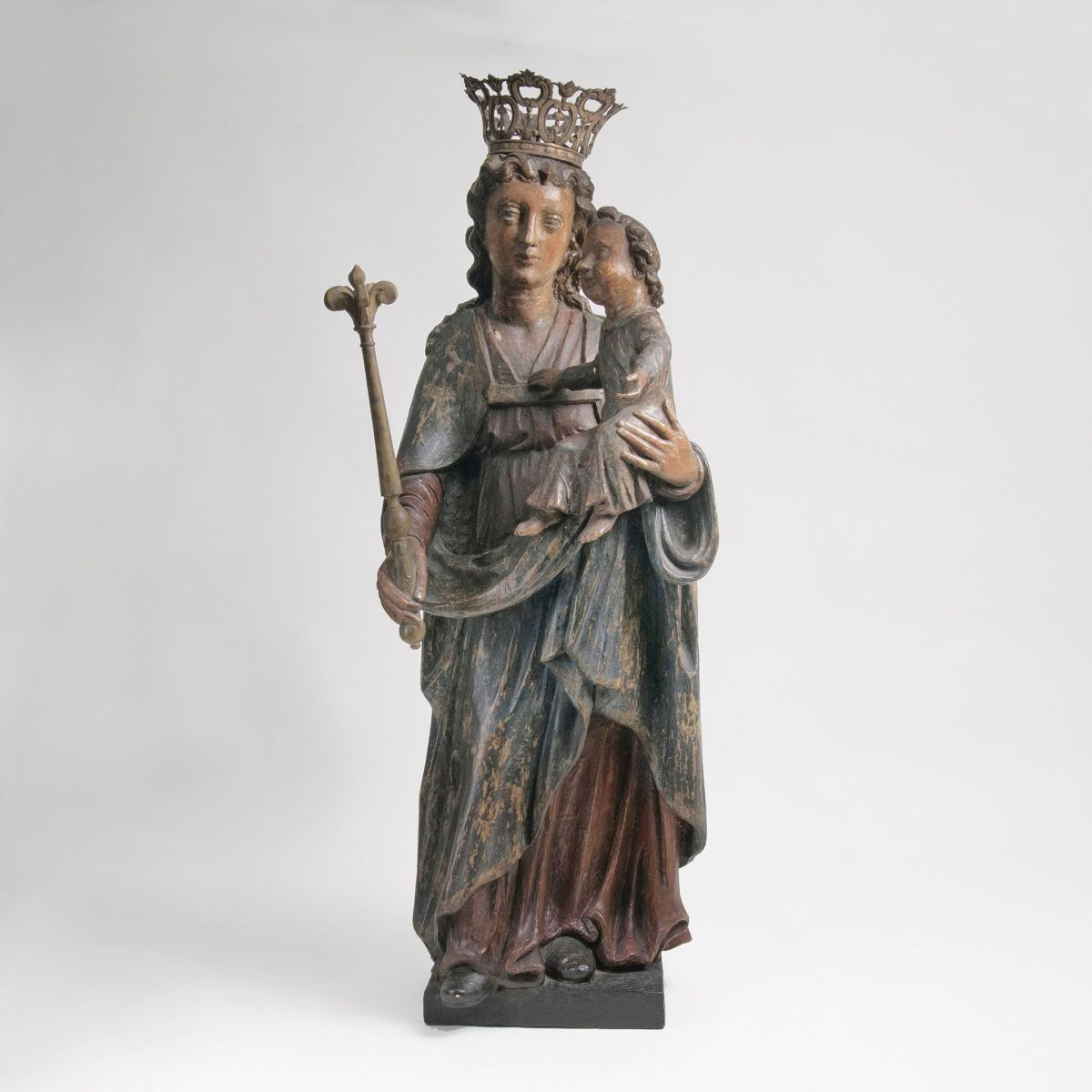 A Sculpture 'Mary with Child'