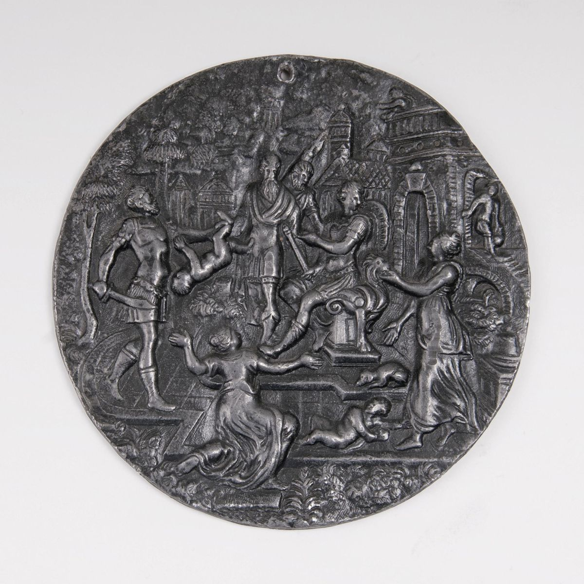 A Reliefed Plaque 'The Judgment of Solomon'