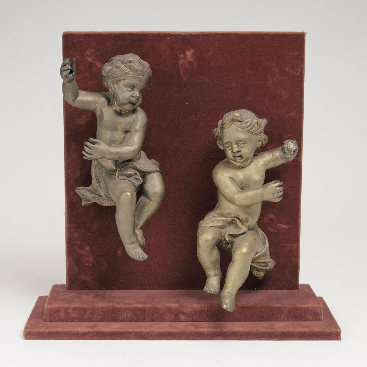 A Pair of Floating Baroque Cupids