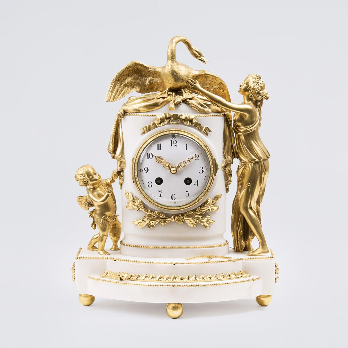 A Napoléon III Clock 'Leda with the Swan and Amor'