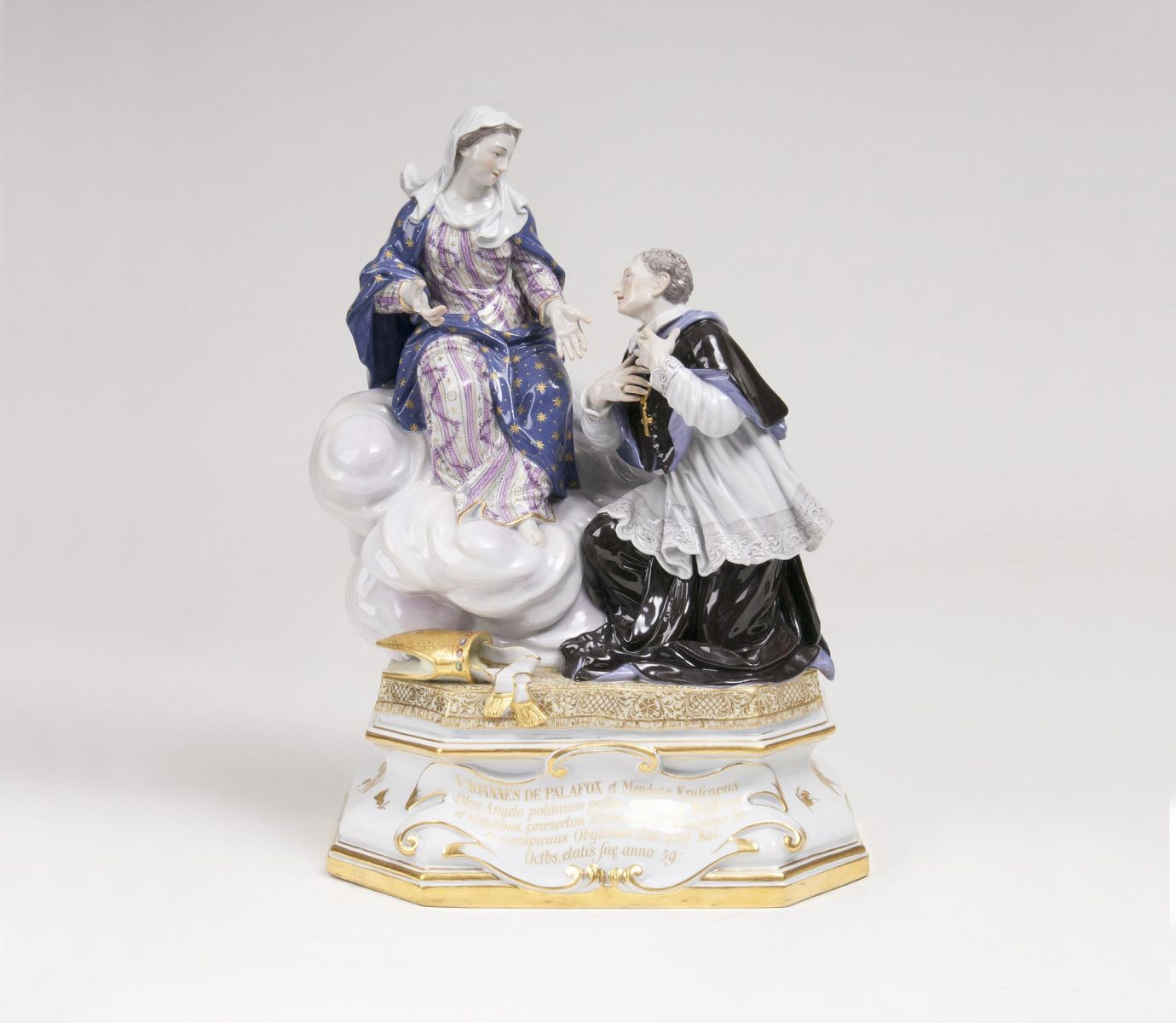 A rare Figure Group 'The Virgin Mary Appearing to John Palafox'