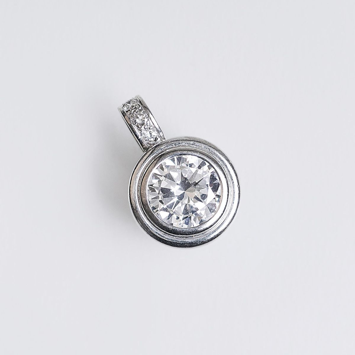 A Solitaire Diamond Pendant