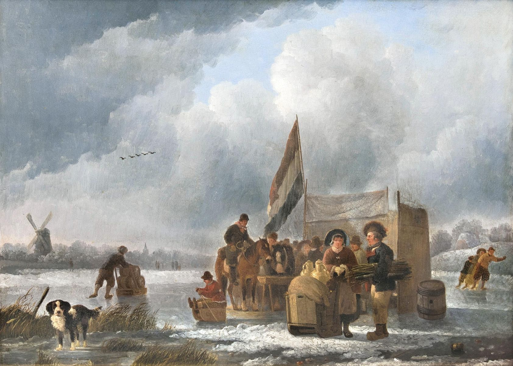 Business on a frozen River