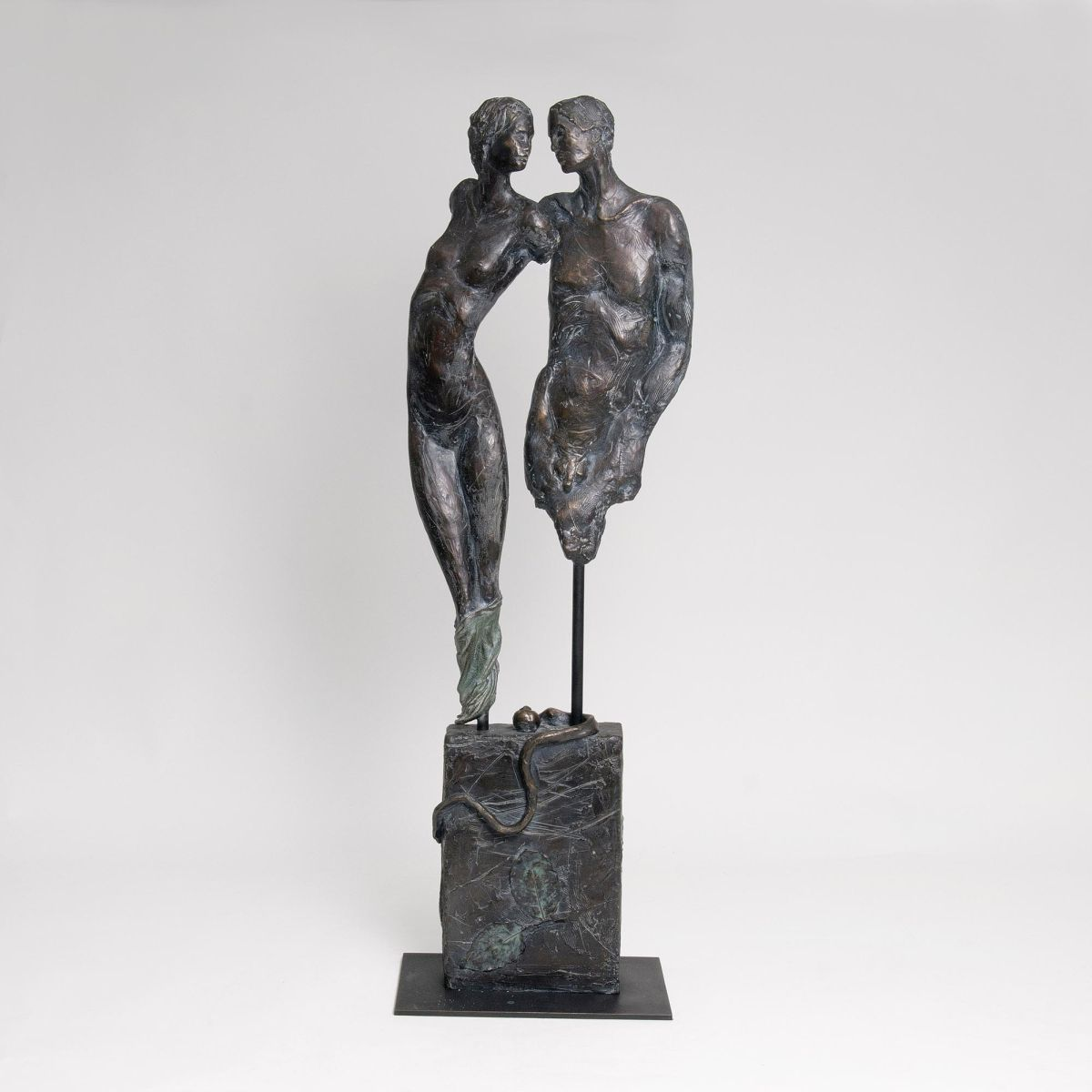 A Figure Group 'Adam and Eve'