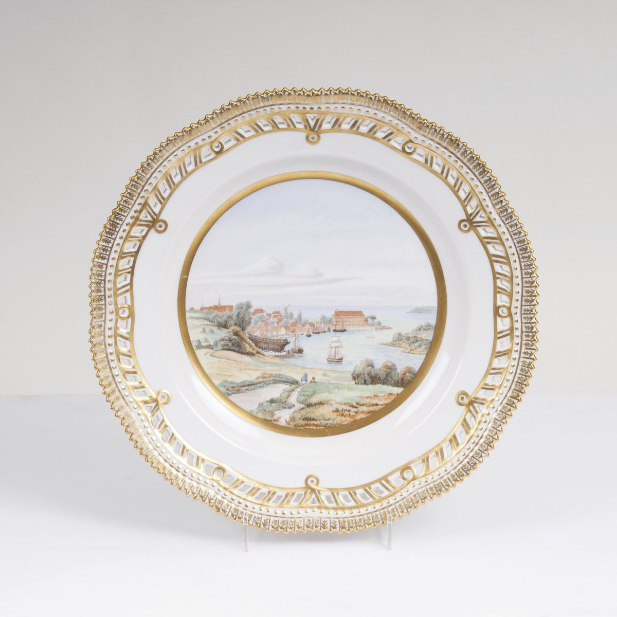 A Flora Danica Plate with View of Sonderborg Castle
