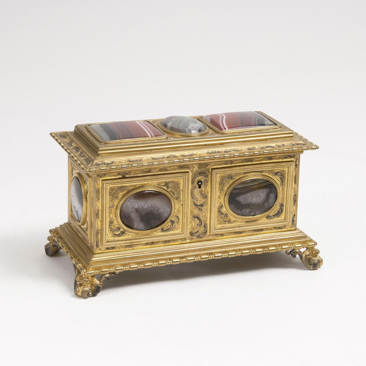 A Napoléon III Coffer-Box with Agate
