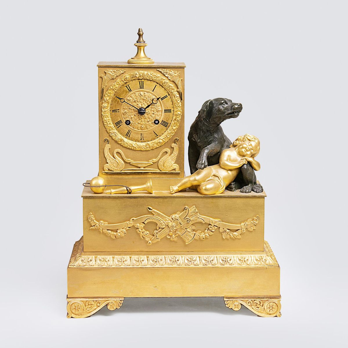 An Empire Pendule 'Sleeping Putto' as Allegory of Loyalty'