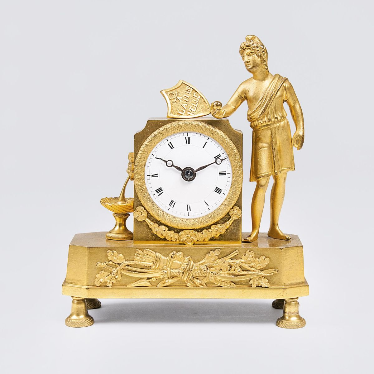 A small Empire Pendule 'Judgement of Paris - La plus Belle'