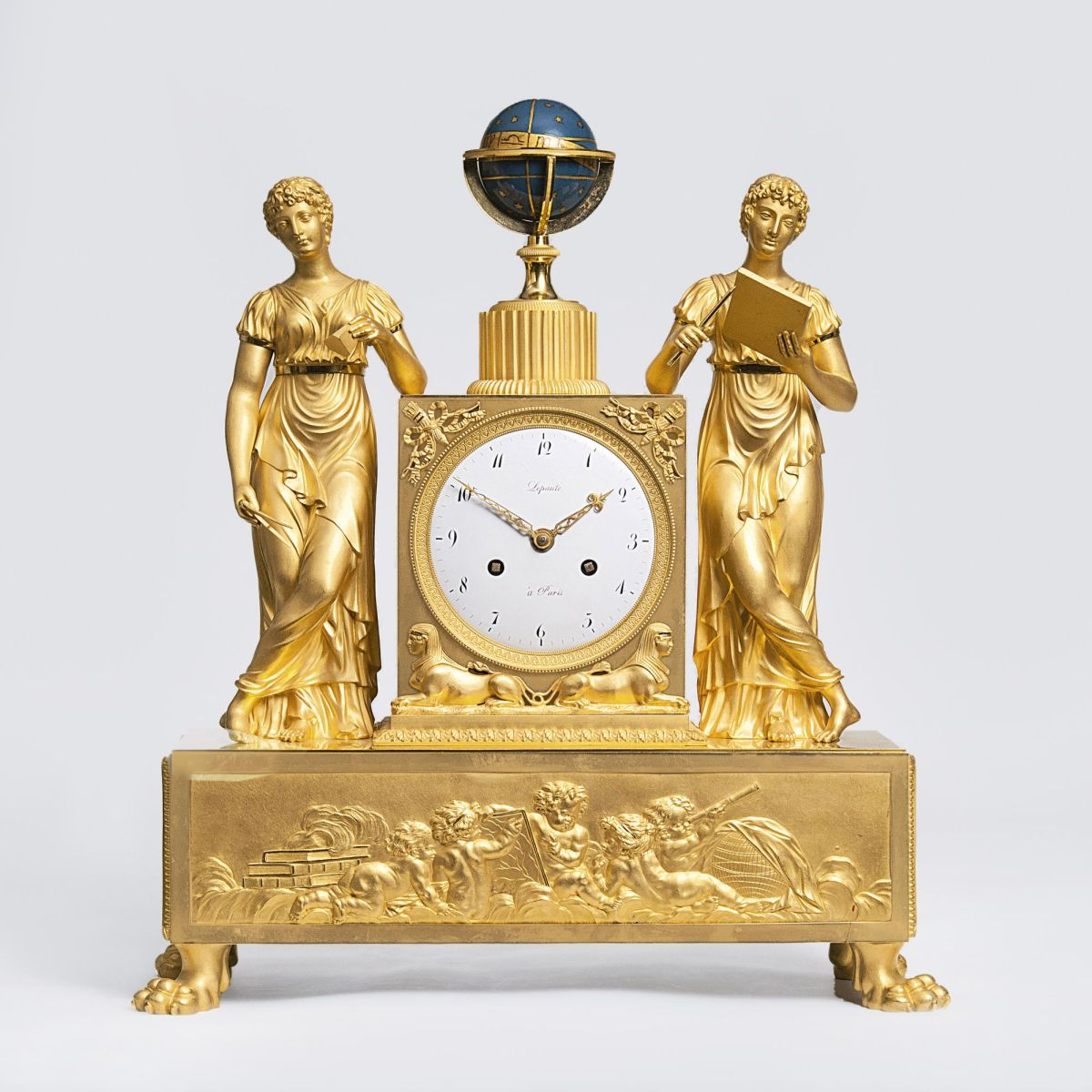 A very rare Empire Pendule 'Allegory of Astronomy'