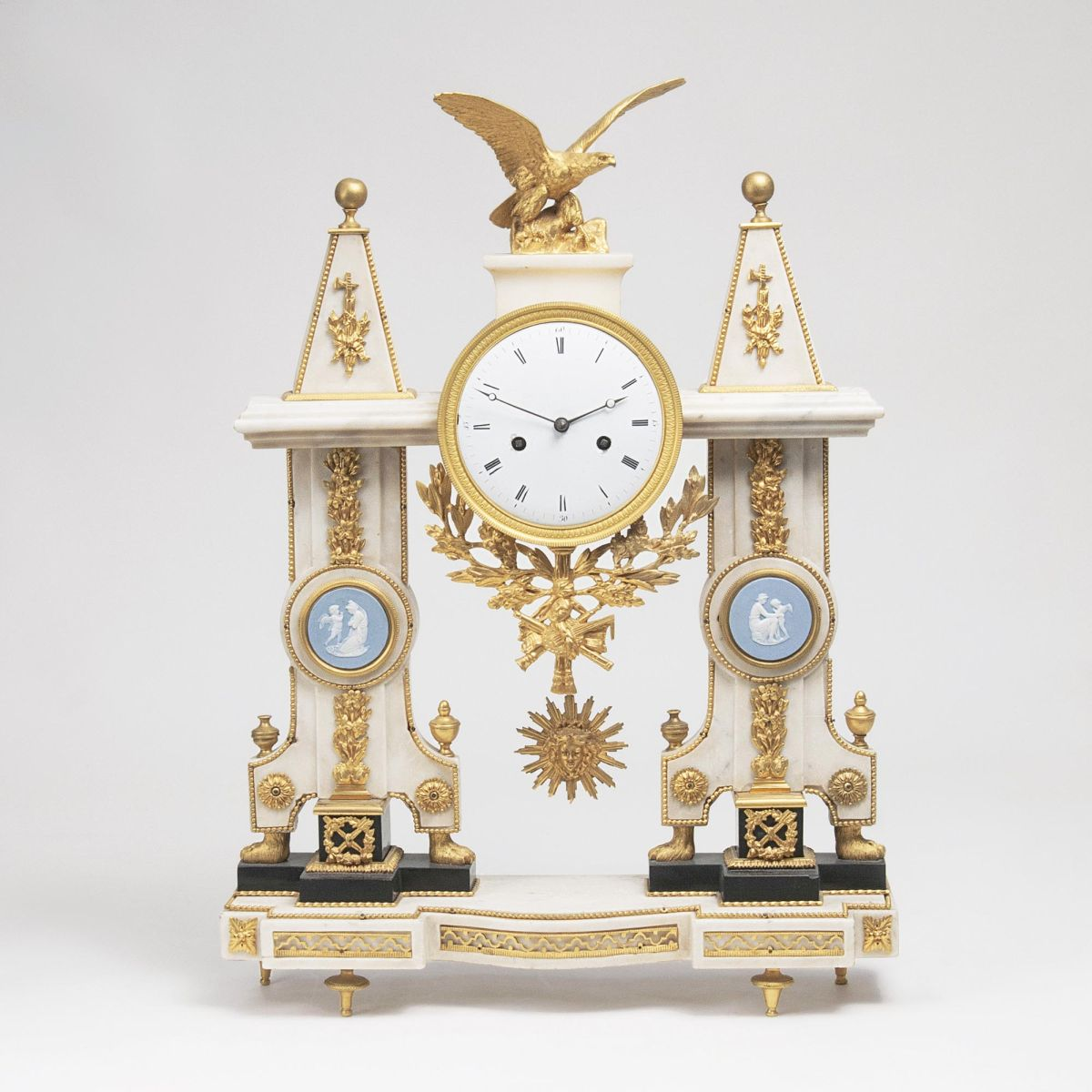 A fine Louis-Seize Pendule 'Portique' with crowning Eagle
