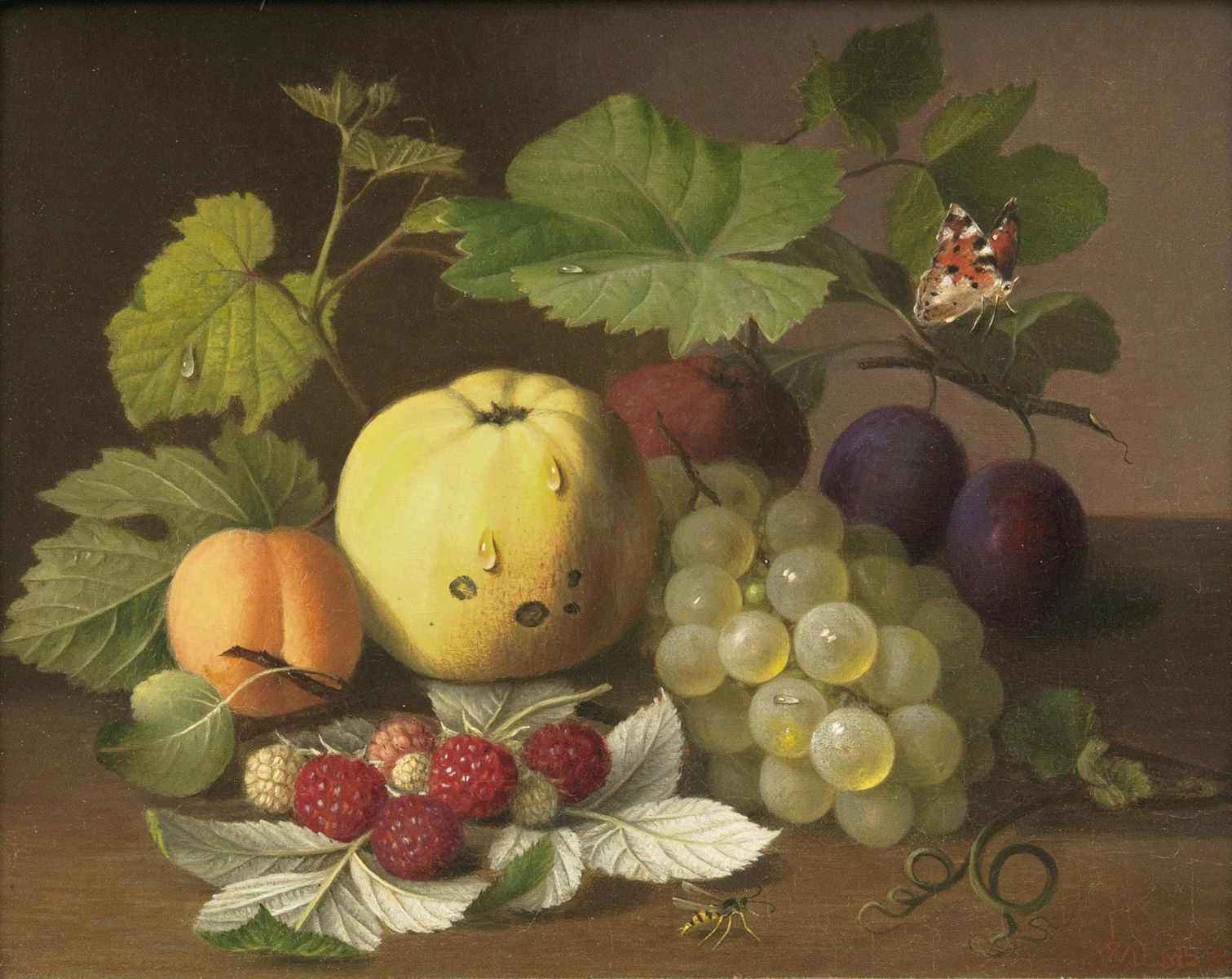Still Life with Fruits and Insects.