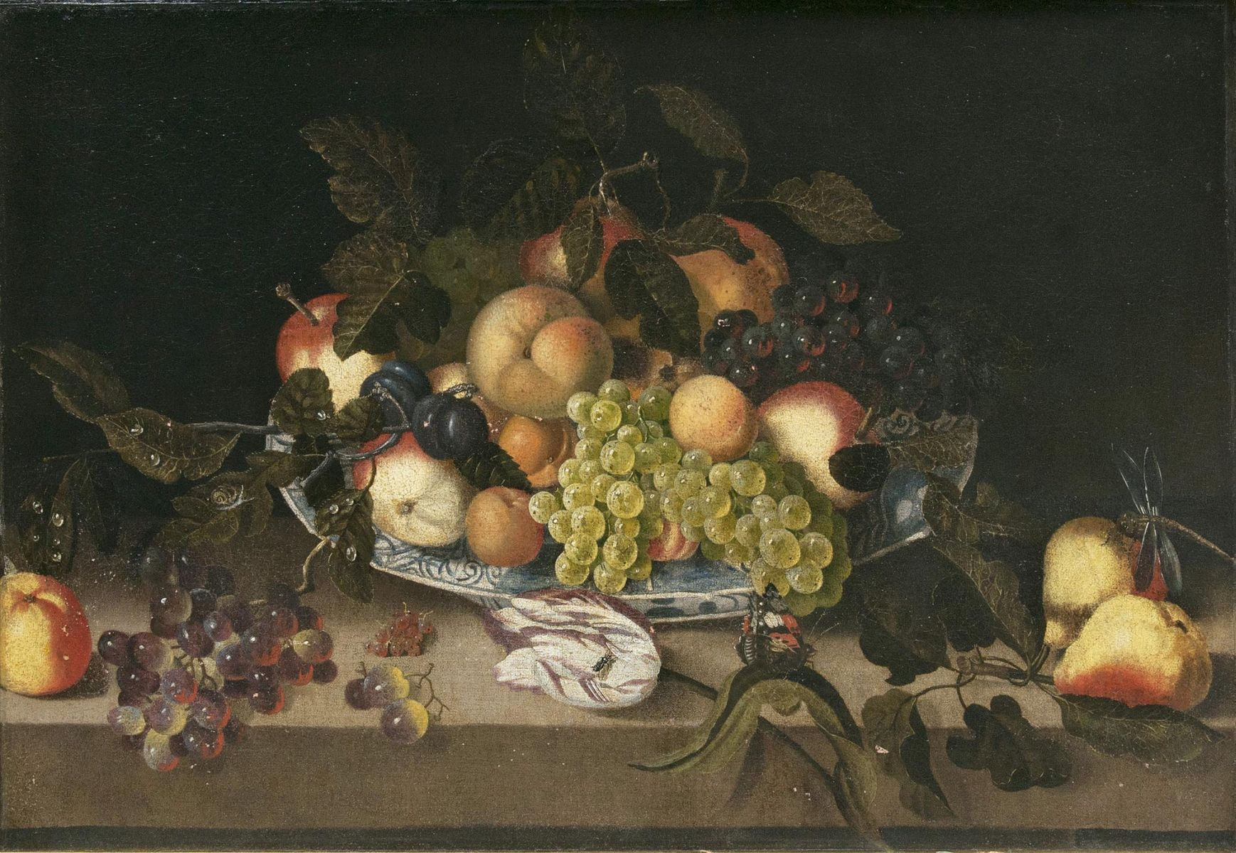 Table Still Life with Fruits, a Tulip and Insects