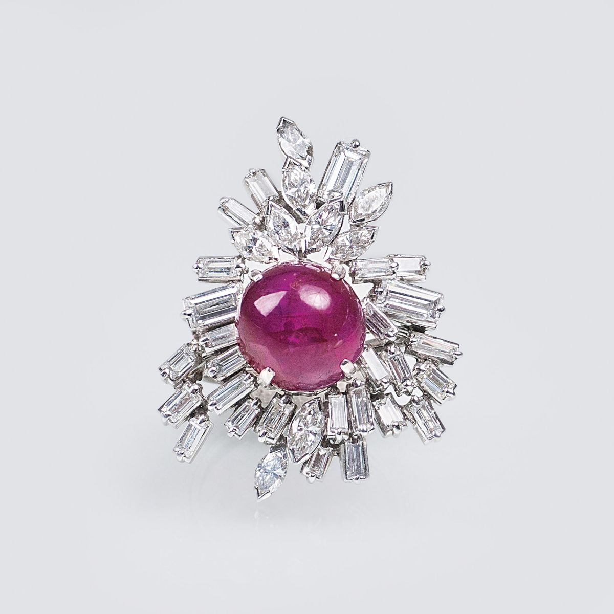 A Vintage Ruby Diamond Ring