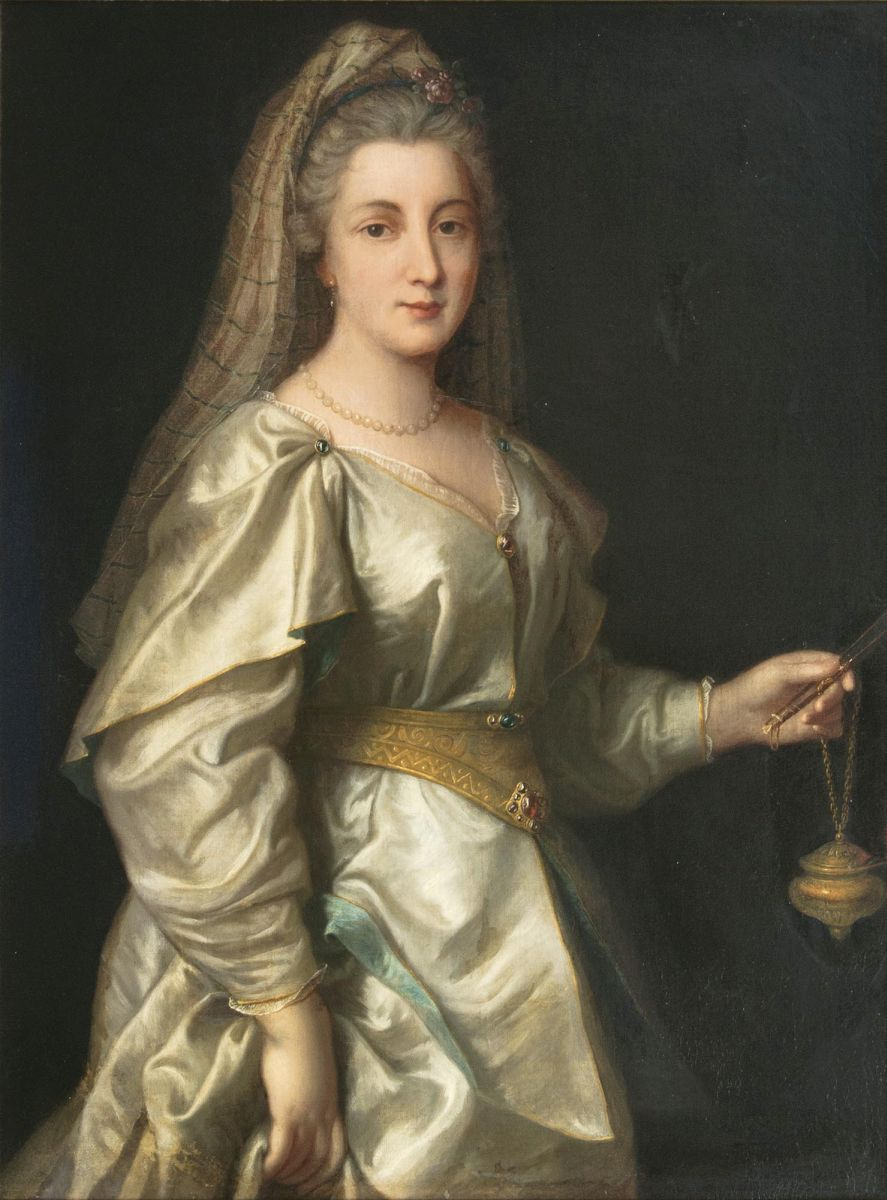 Lady with Fan and Lamp