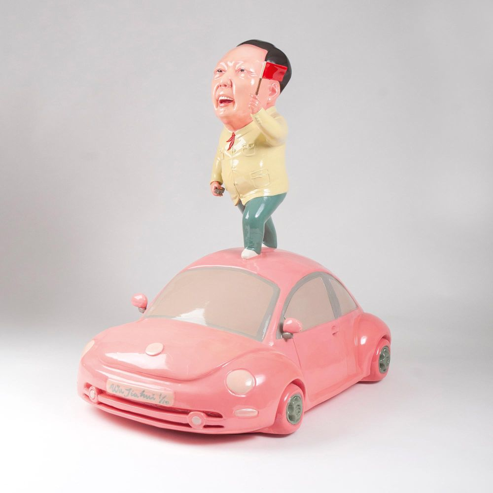 Mao on a VW Beetle
