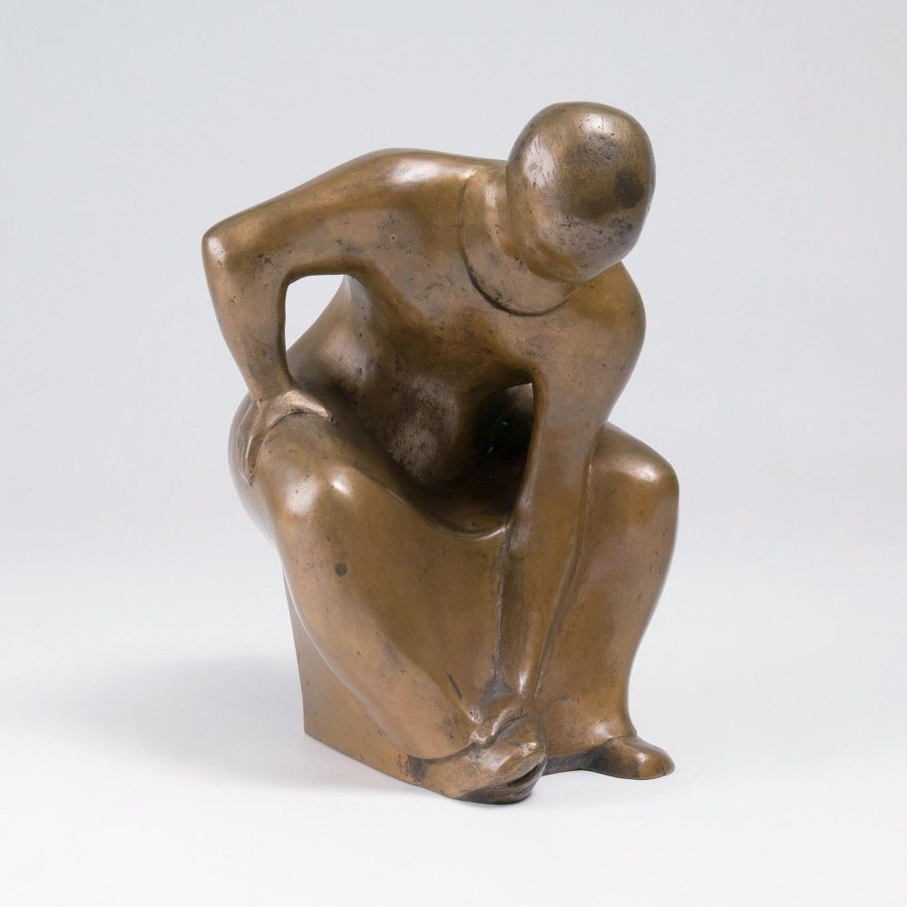 Seated Female With Inclined Upper Body