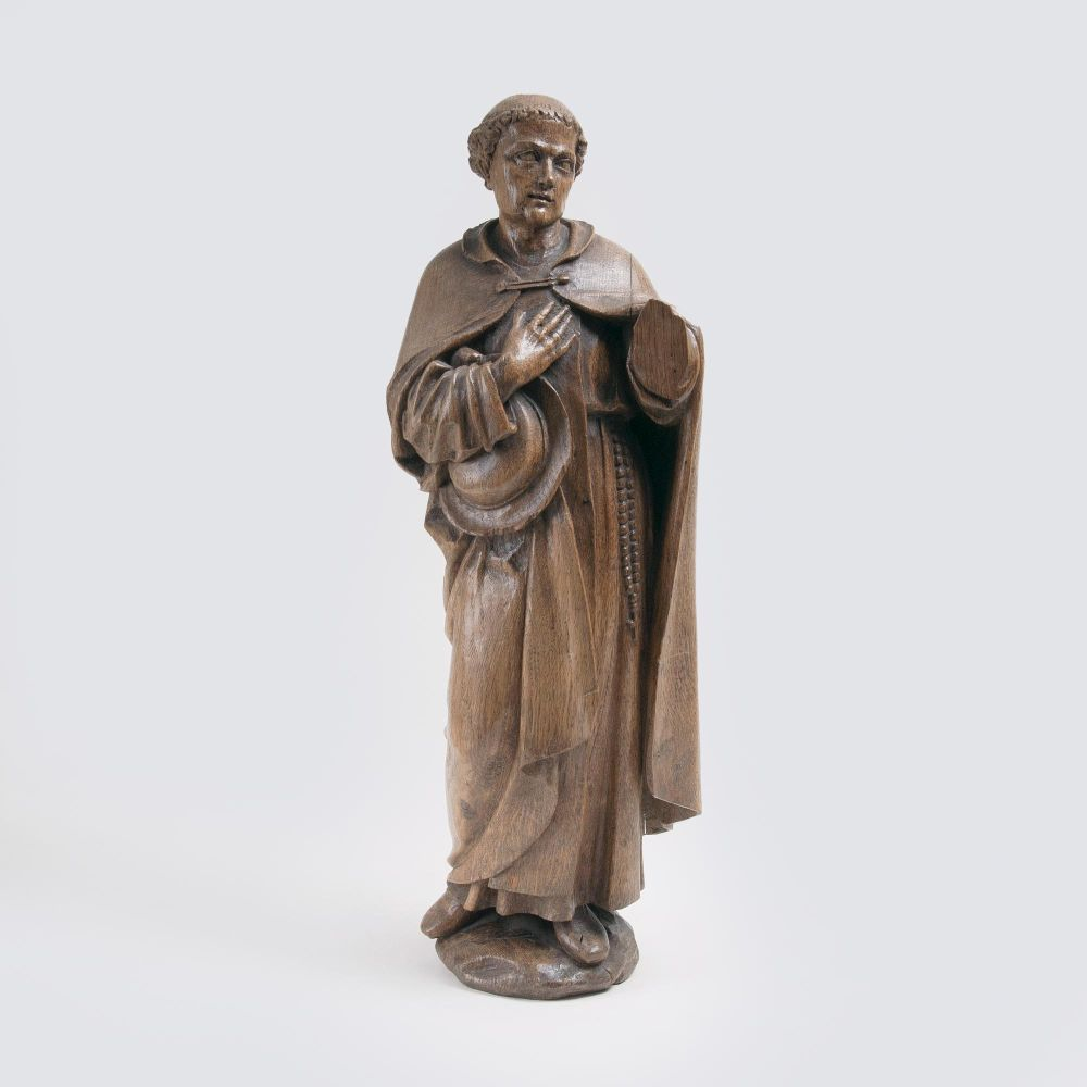 A late Baroque Wooden Sculpture of a Monk